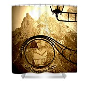 Cafe Sign In Bavarian Alps Shower Curtain