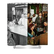 Cafe - Temptations 1915 - Side By Side Shower Curtain