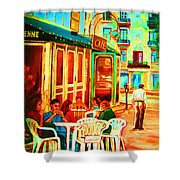 Cafe Vienne Shower Curtain