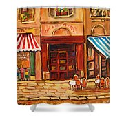 Cafe Vieux Montreal Shower Curtain