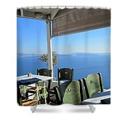 Cafe' With A View Shower Curtain