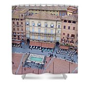 Cafes Of Il Campo In Siena Italy Shower Curtain