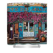 caffe del Aigare Shower Curtain