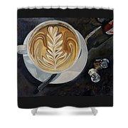 Caffe Vero Cappie Shower Curtain