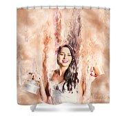 Caffeine High Pin Up Girl Shower Curtain