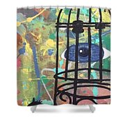 Caged Vision  Shower Curtain