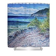 Cagliari Sardinia Italy 2016 Shower Curtain