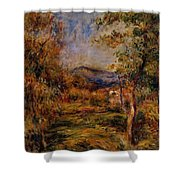 Cagnes Landscape Shower Curtain