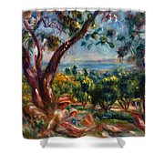 Cagnes Landscape With Woman And Child 1910 Shower Curtain