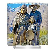 Cahuilla Band Of Agua Caliente Indians Sculpture On Tahquitz Canyon Way In Palm Springs-california Shower Curtain