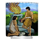 Cain And Abel Shower Curtain