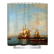 Caiques And Sailboats At The Bosphorus Shower Curtain
