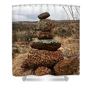 Cairn On The Mountain Shower Curtain