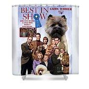 Cairn Terrier Art Canvas Print - Best In Show Movie Poster Shower Curtain