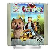 Cairn Terrier Art Canvas Print - The Wizard Of Oz Movie Poster Shower Curtain