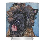 Cairn Terrier Brindle Shower Curtain by Lee Ann Shepard