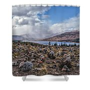 Cairns Of Loch Loyne Shower Curtain