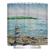 Cairns On The Beach Shower Curtain