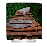 Cairns Rock Trail Marker Bluff Utah 01 Shower Curtain