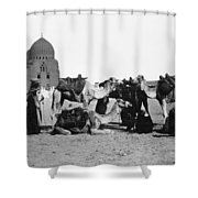 Cairo: Group Of Camels Shower Curtain