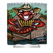 Cajun Critters Shower Curtain