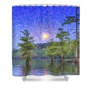 Cajun Moon Shower Curtain