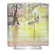 Cajun Sunrise Shower Curtain