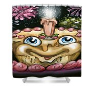 Cake N Fireworks Shower Curtain