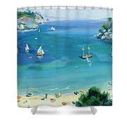 Cala Galdana - Minorca Shower Curtain by Anne Durham