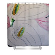 Cala Lillies Shower Curtain
