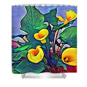 Cala Lily Caliente Shower Curtain
