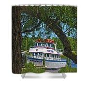 Calabash Deep Sea Fishing Boat Shower Curtain