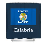 Calabria, Italy Flag And Name Shower Curtain
