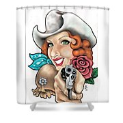 Calamity Shower Curtain