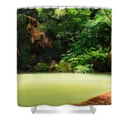Caldeira Velha Thermal Pool Shower Curtain