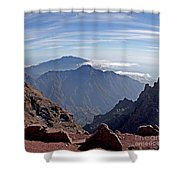 Caldera De Taburiente-1 Shower Curtain