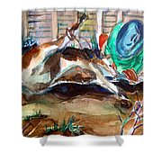 Calf Roping Shower Curtain