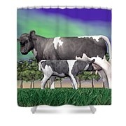 Calf Suckling - 3d Render Shower Curtain