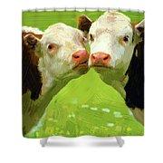 Calfs Shower Curtain