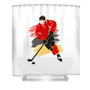 Calgary Flames Player Shirt Shower Curtain