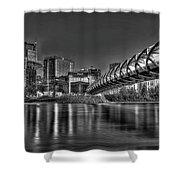 Calgary Peace Bridge Shower Curtain