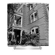 Calhoun Mansion Black And White Shower Curtain