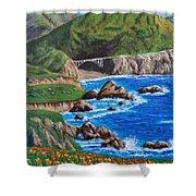California Coastline Shower Curtain
