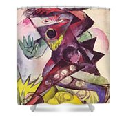 Caliban From Shakespeare The Tempest 1914 Shower Curtain