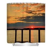 Calibogue Sound Sunset Shower Curtain