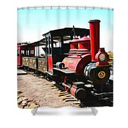 Calico And Odessa Rail Road Shower Curtain