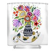 Calico Bouquet Shower Curtain