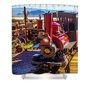 Calico Ghost Town Train Shower Curtain
