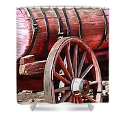 Calico Ghost Town Water Wagon Shower Curtain