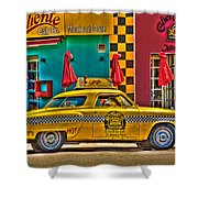Caliente Cab Co Shower Curtain